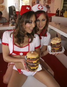 "The ""nurses"" of Heart Attack Grill"